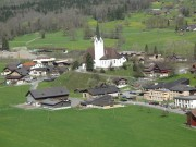 Swiss village - Scenery from the train