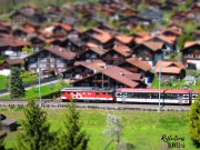 Ringgenberg and passing train with minature feature