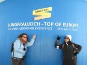 Sook Kwan and Carissa - Jungfraujoch