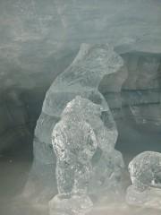 Bear sculpture at Jungfraujoch