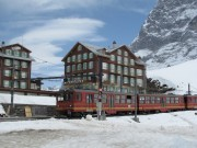 One of the trains on way to Jungfraujoch