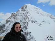 Nadia at Jungfraujoch