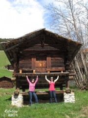 Holding up the hut, Gimmewald