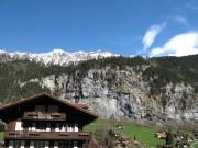 Lauterbrunnen below the mountains