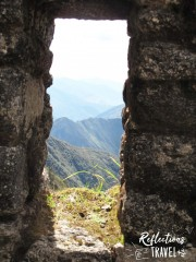 Looking down into the valley at Winay Wayna