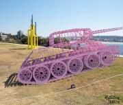 Pinktank Wrecked by David Černý